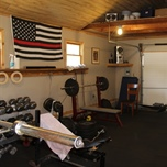 Work Out Facilities Located in a Shed