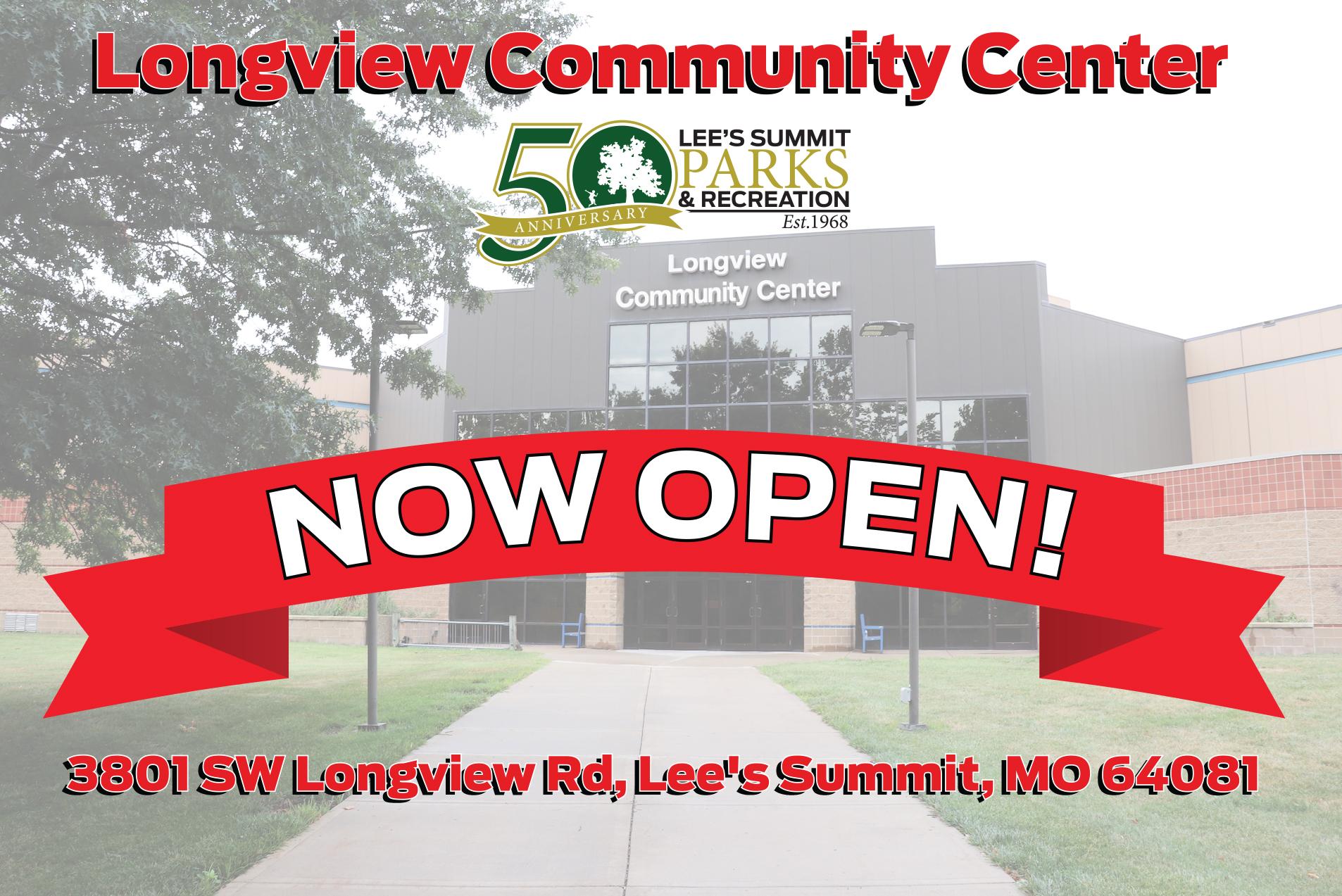Longview Community Center Opening December 17