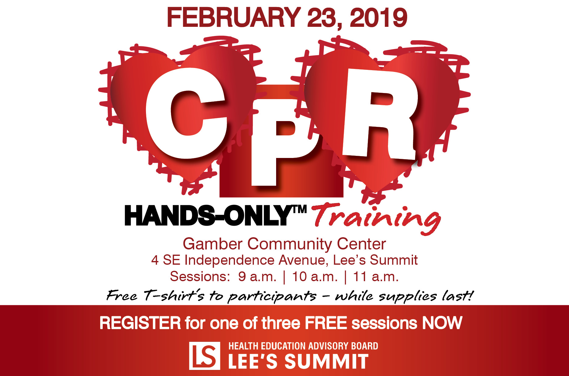 CPR Hands-Only Training Feb. 23