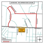 Weekend Closure of the Eastbound Lanes of NW Chipman Road Bridge Begins Friday, Sept. 15
