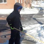 Is the sidewalk clear? Take steps to carefully clear it
