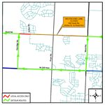 Southwest Hook Road Lane Closure Switch Set for July 24