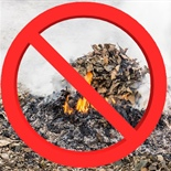 Burning Leaves and Yard Waste is Prohibited