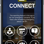 LS Connect mobile app home screen
