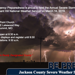 Jackson County Emergency Preparedness/National Weather Service Severe Weather Symposium on Saturday, March 16