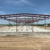 Construction of replacement hangars at the Lee's Summit Municipal Airport.