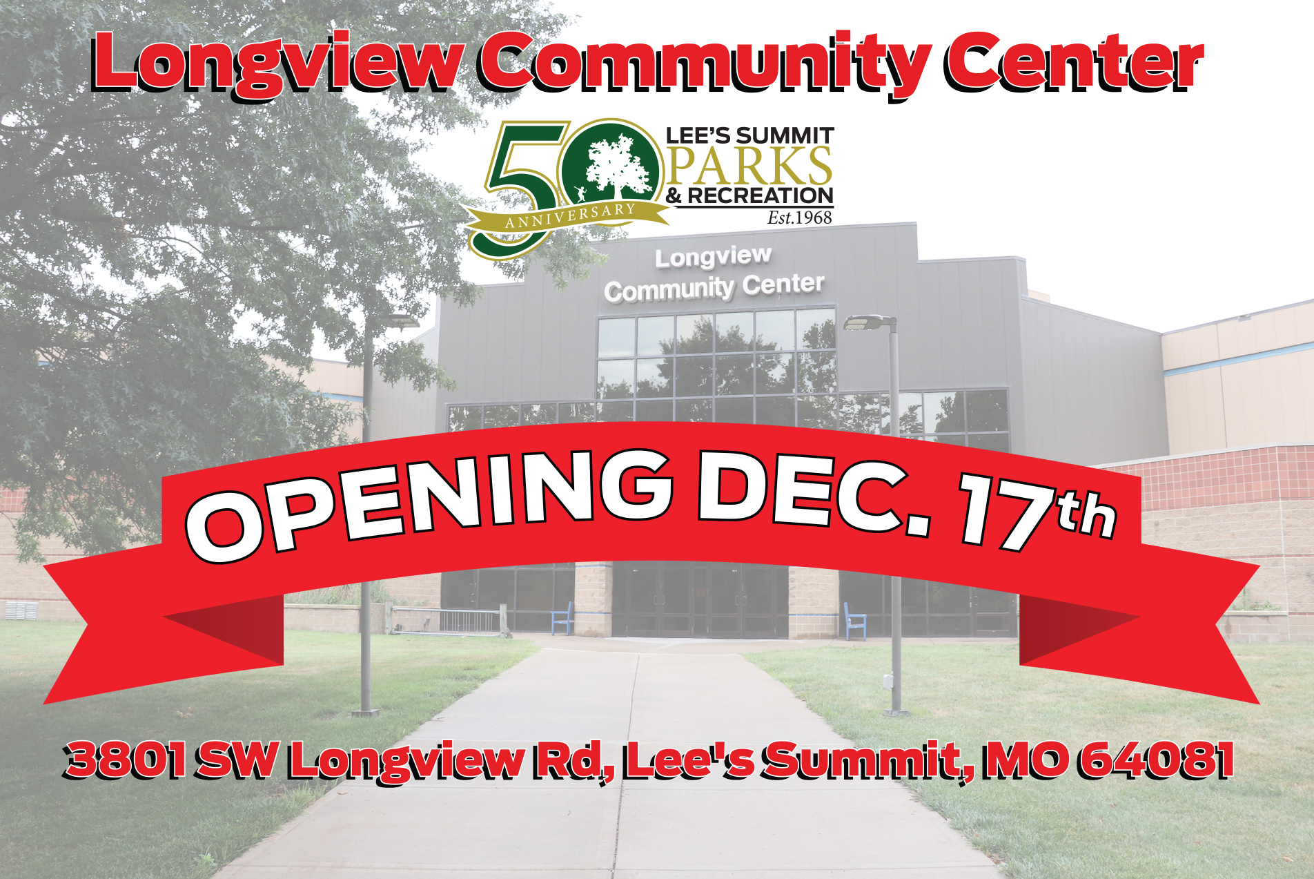 Image of Longview Community Center Grand Opening Announcement