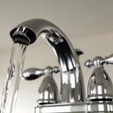 Generic photo of a faucet with running water.