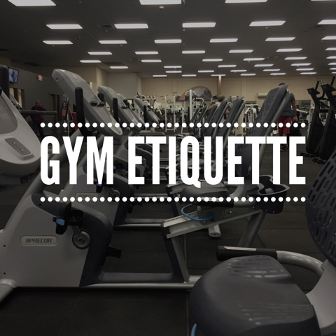 Generic image with text that says Gym Etiquette