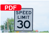 Image of a speed limit sign