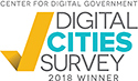 2018 Digital Cities Survey Winner logo