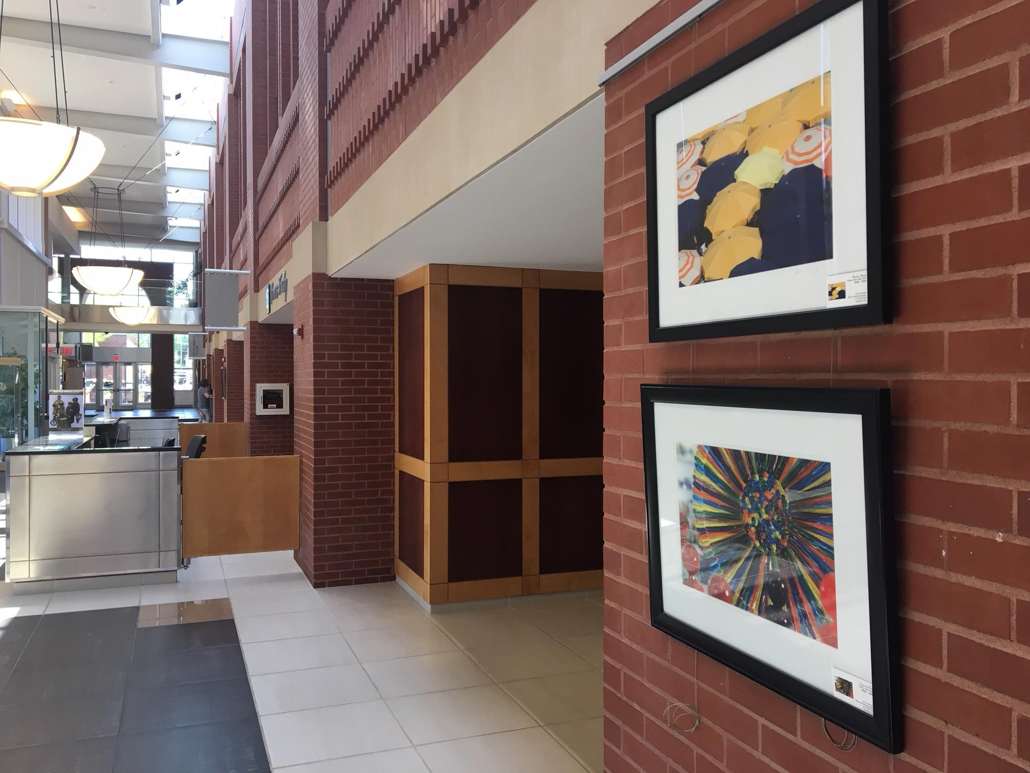 Image of a City Hall artwork exhibit
