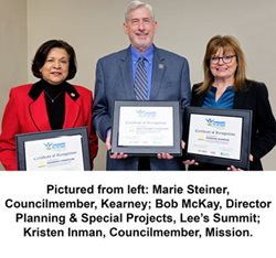 Photo: Recognition for achieving Bronze certification at MARC