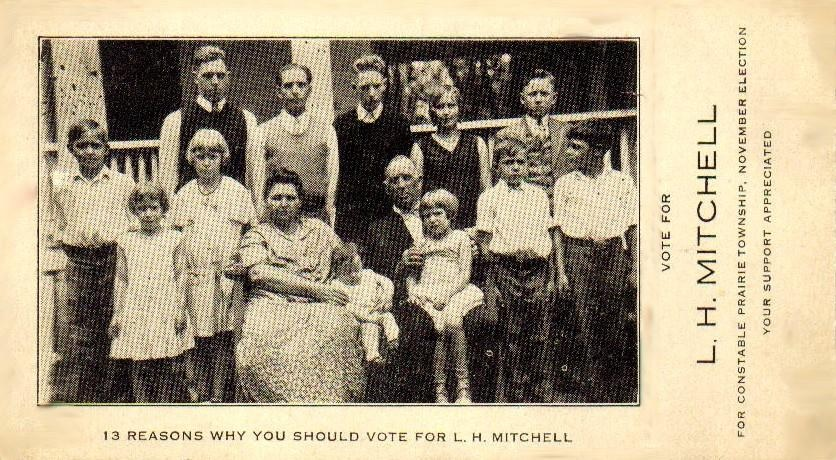 Image of Marshal Lester Henry Mitchell and family.