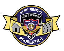 Lee's Summit Police Safe Rental Properties logo.