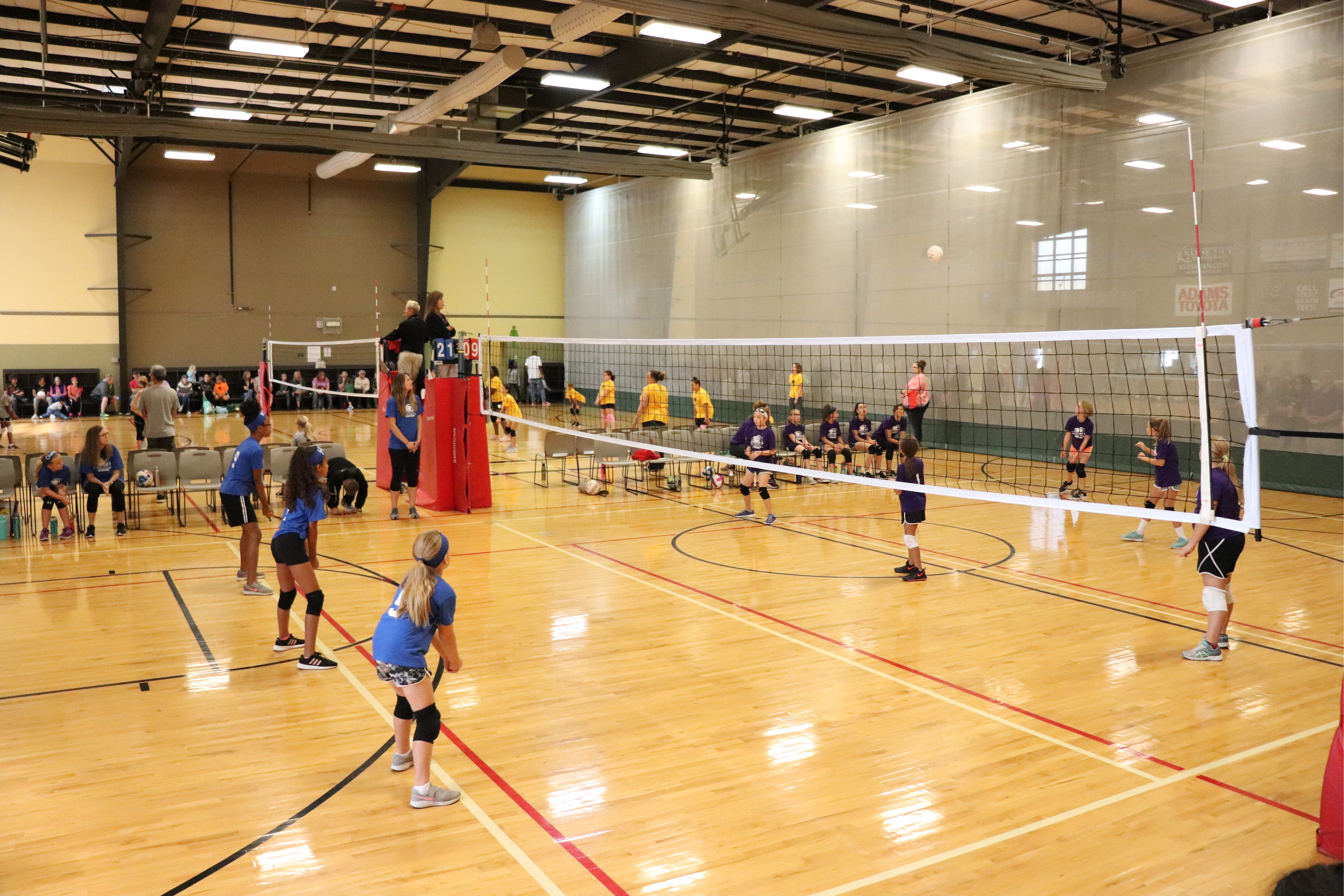 Image of volleyball game or practice.
