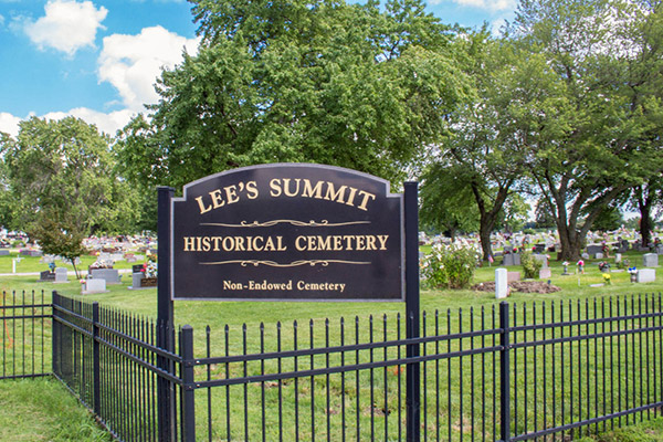 Lee's Summit Historical Cemetery Sign