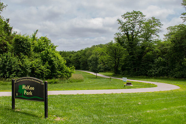 Image of McKee Park sign and trail