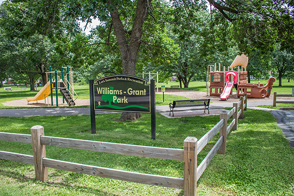 Image of Williams Grant Park sign and playground